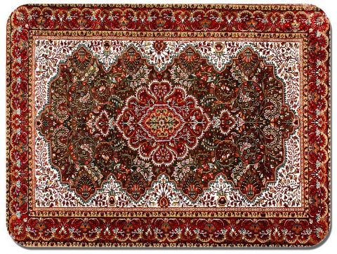 Persian Rug Design Print Mouse Mat. Vintage Carpet Print Quality Mouse Pad #6